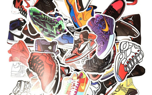 pack sneaker stickers hypebeast limited exclusive retr...