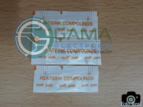 pack sobre pasta térmica blanca p/procesador (5 unidades)