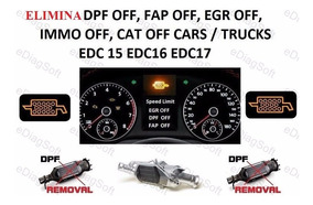 Pack Soft Elimina Egr/dpf/fap/dtc/lambda - Amarok Edc17 Etc