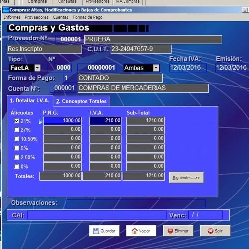 pack sueldos + iva + contabilidad = sistema myestudio 16.0