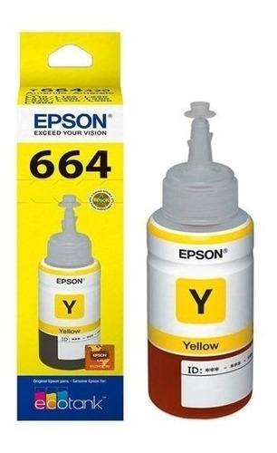 pack tintas epson t664 black + cyan + yellow + magenta