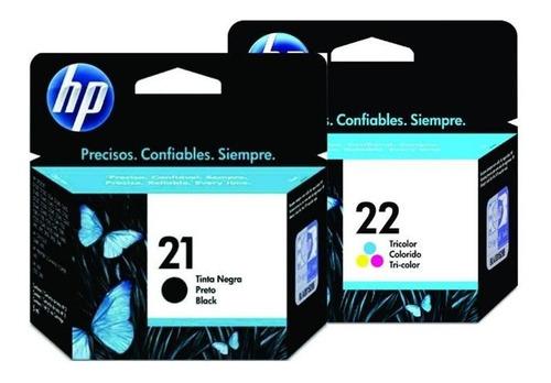 pack tintas hp 21 - 22 originales y selladas envio gratis