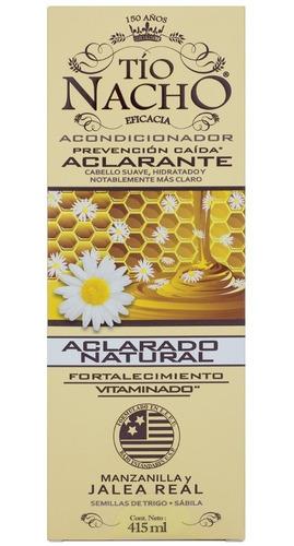 pack tío nacho aclarante  2 shampoo+ 1 acond. 415 c/u