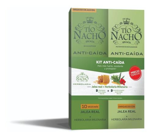 pack tío nacho engrosador 01 shampoo + 01 acond. 425 c/u