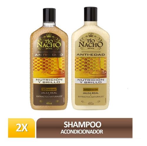 pack tío nacho jalea real 01 shampoo + 01 acond.  c/u 415ml