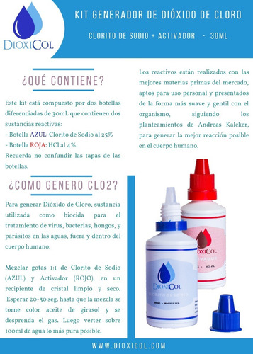 pack triple - 3 kits - dioxicol - ml a $366