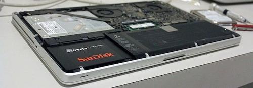 pack upgrade ssd disco solido macbook pro instalado + caddy