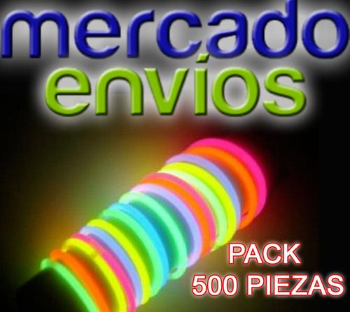 pack varitas de neon con 500 piezas para todos tus eventos