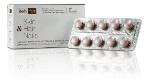 pack vitaminas skin hair & nails mujer x6