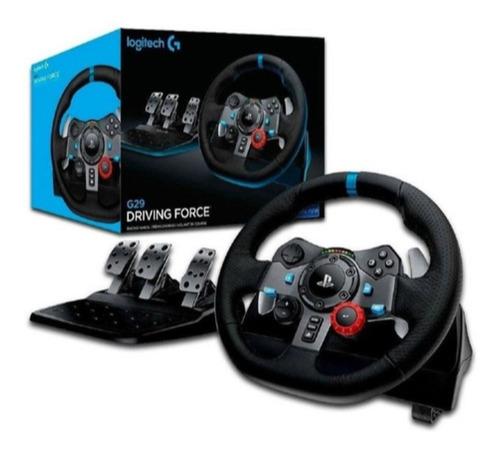 pack volante logitech g29 ps5 ps4 pc + soporte f1