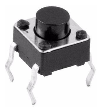 pack x 10 boton pulsador tact switch 6x6x7mm push arduino