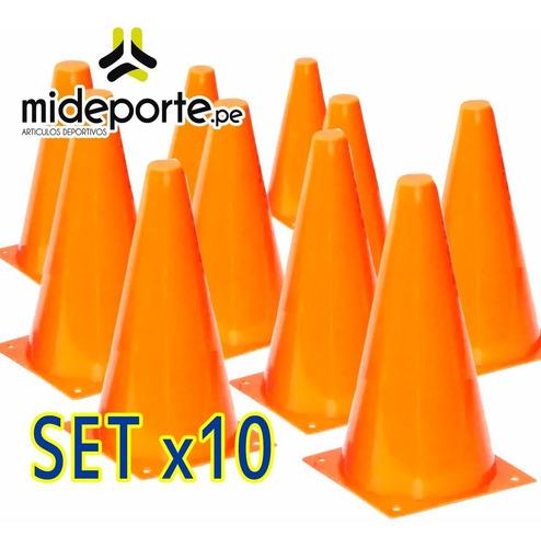 pack x 10 conos pvc 25cm entrenamiento deporte agilidad