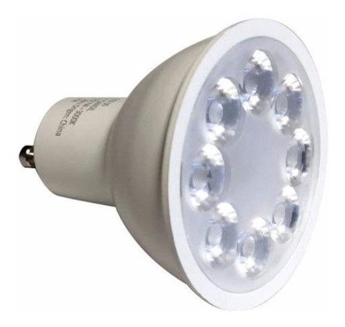pack x 10 focos lamparas led gu10 7w 30° 220v marca: candil = 50w luz calida/fria iluminacion led la mas potente