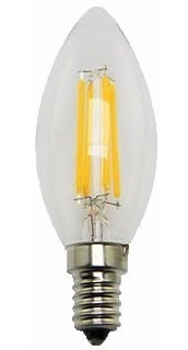 pack x 10 lampara vela filamento led 4w = 40w e14 mignon dim