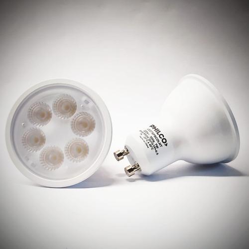 pack x 10 lámparas dicroica led 7w gu10 220v luz fria philco