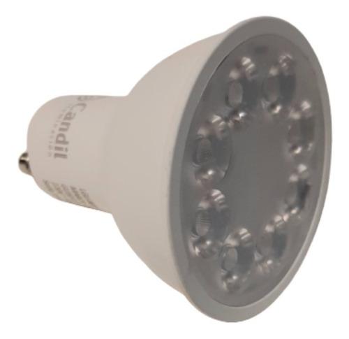 pack x 10 lamparas dicroicas focos led 7w gu10 220v marca: candil 3000k/6500k luz calida o fria