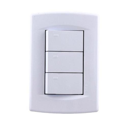 pack x 10 llave de luz 3 puntos teclas modulos sica 10a