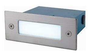 pack x 10 luz lámpara embutido pared led exterior escaleras