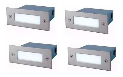 pack x 10 luz lámpara embutido pared led exterior escaleras