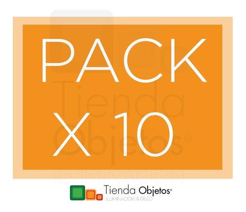 pack x 10 panel led de aplicar redondo 6w calido frio cuota