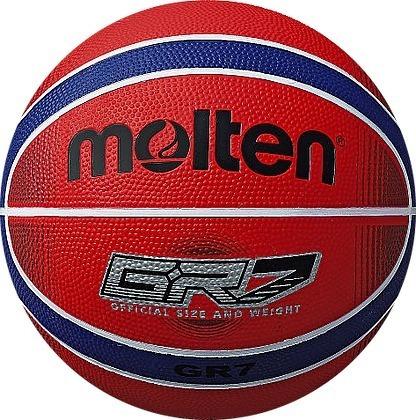 pack x 10 pelotas de basquet molten n 7 gr7 rojo/azul