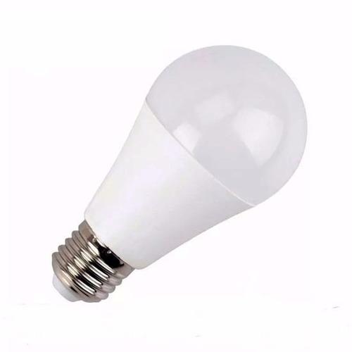 pack x 10 unidades lampara led 7w luz fria rosca comun e27