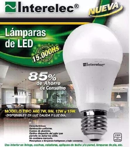 pack x 10 unidades lampara led 9w luz fria rosca comun e27