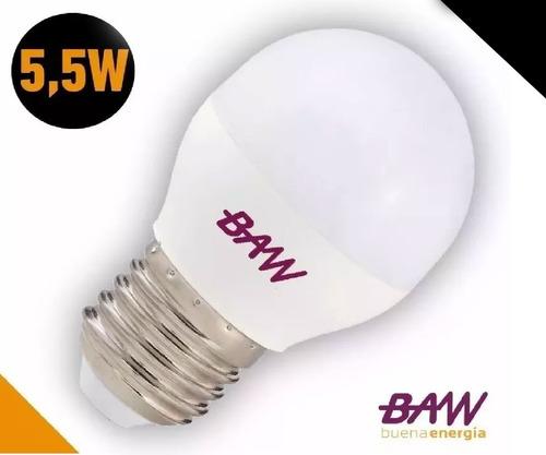 pack x 10un lampara led gota 5,5w fria e27 g45 baw