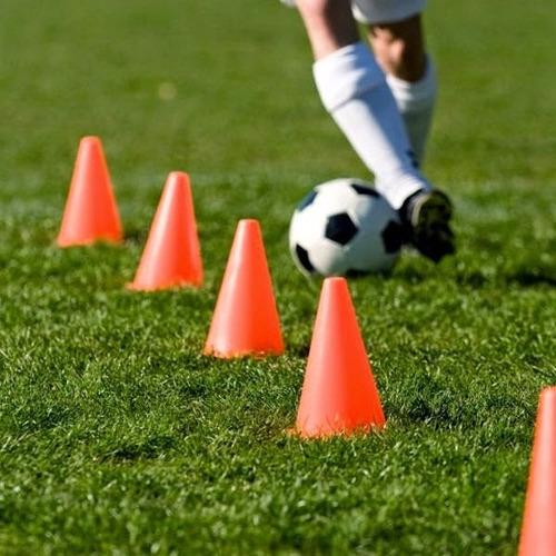 pack x 12 conos de 25cm pvc entrenamiento deportivo fútbol