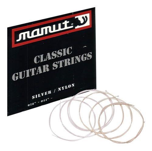 pack x 12 encordado guitarra criolla clasica mamut ht corea
