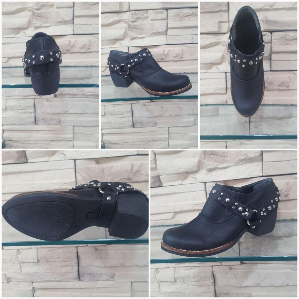 Texano X Pack 12 Moda Pares Mujer Zapatos Charrito Tachas Tcl1FKJ