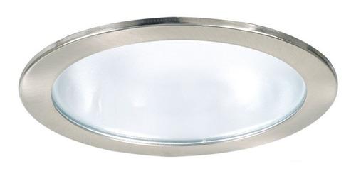 pack x 12 spot embutir con vidrio trompa platil e27 apto led