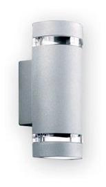 pack x 2 aplique bidireccional exterior gu10 marca: candil oda apto para 2 lamparas dicroicas led gu10 aplique exterior