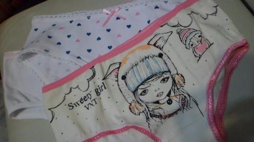 pack x 2  bombachas de niña vintage bonitas! z/colegiales