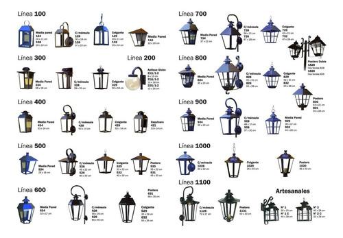 pack x 2 farol jardin pilar incluye base pilar + led 10w 830