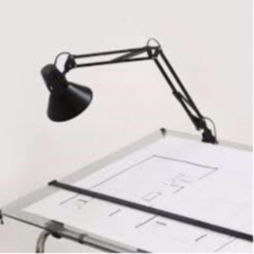 pack x 2 lamparas de escritorio articuladas morza marca: candil + 2 focos lamparas led e27 ideal tablero dibujo arquit.