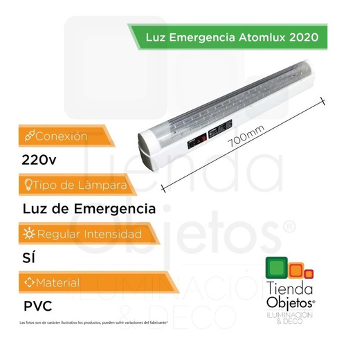 pack x 2 luces de emergencia atomlux 2020 60 luz led 12hs