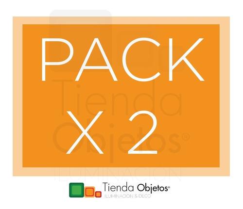 pack x 2 plafon cuadrado palermo 2 luces 25x25 cm