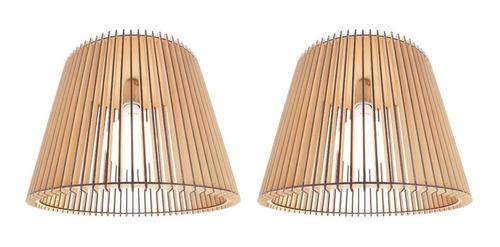 pack x 2 unidades lampara cónica 40 nórdica