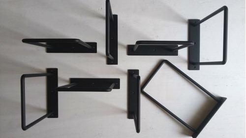 pack x 2 unidades mensula de hierro u para estante de 30 cm