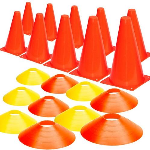 pack x 20 conos pvc platillo  entrenamiento deportivo