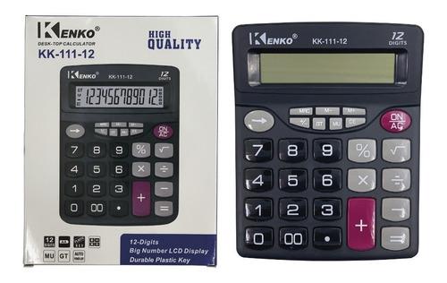 pack x 3 calculadora 12 dígitos teclas grande mu,mr,gt,% 111