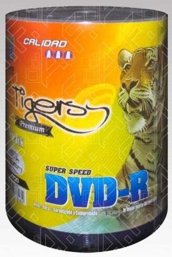 pack x 3 dvd - r virgen tiger imprimible en blanco 8x