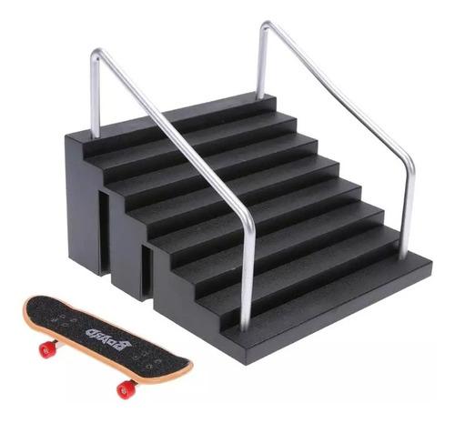 pack x 3 rampas + fingerboard madera profesional rodamientos