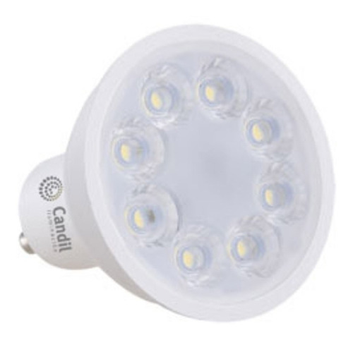 pack x 30 lamparas focos led 7w gu10 220v dicro luces candil