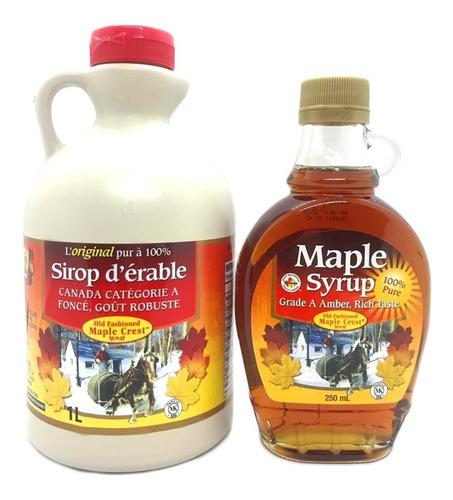 pack x 3u jarabe de arce o maple syrup 250 ml + envio!!