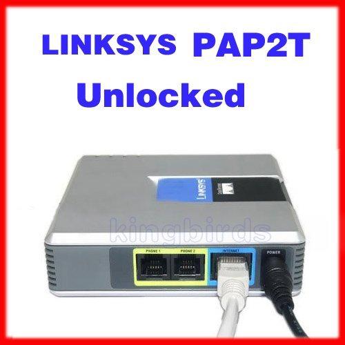 pack x 4 ata sip voip linksys pap2 libre original gratis env