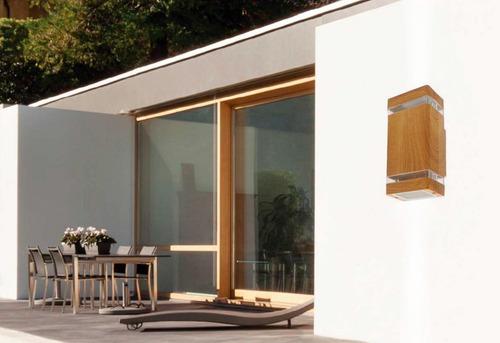 pack x 4 bidireccional simil madera moderno gu10 aluminio