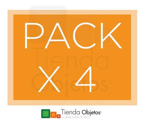 pack x 4 lampara led philips dicroica 4.3w gu10  dimerizable