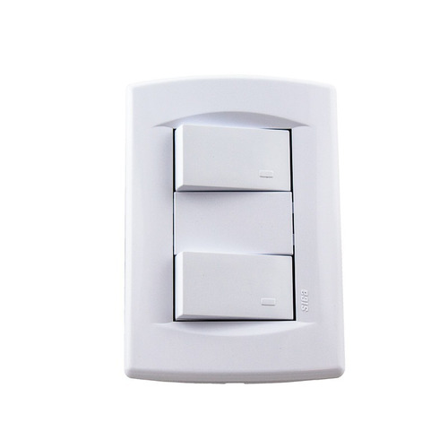 pack x 4 llave de luz armada 2 puntos tecla modulo sica 10a